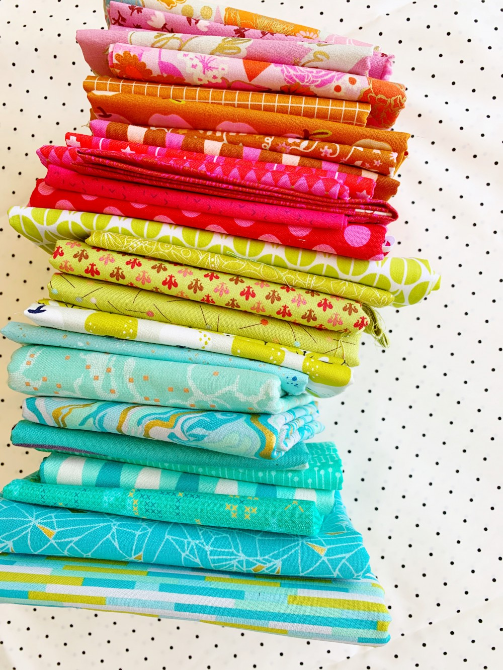 Fabric selection for Bronte's Stars Quilt by Emma Jean Jansen