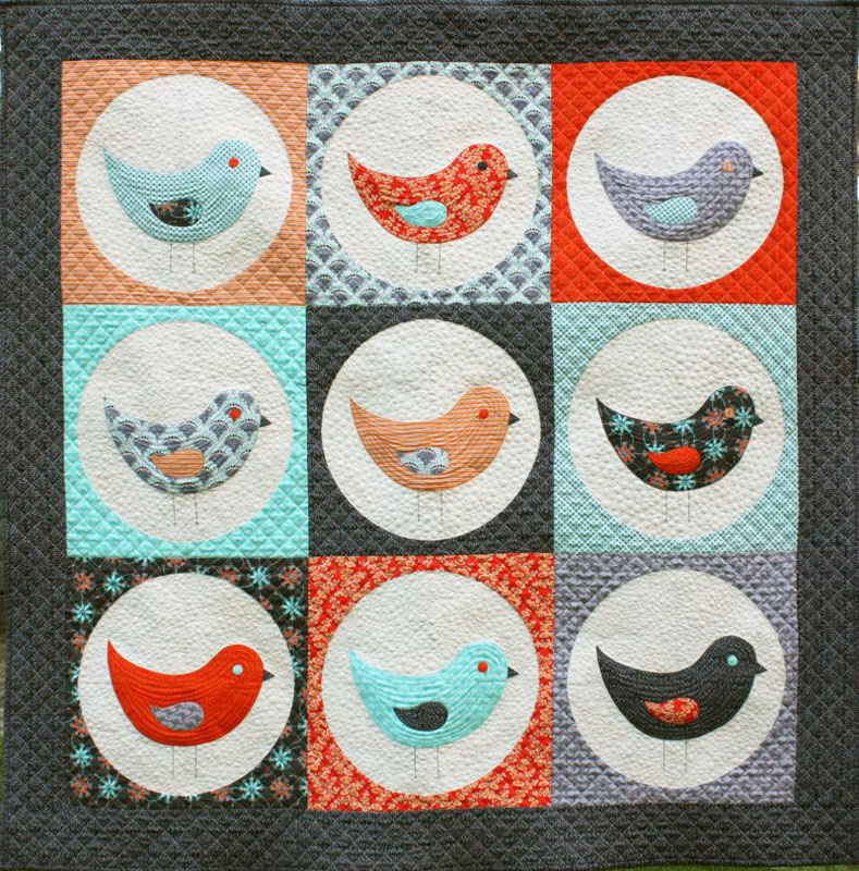Nine Birds Quilt Pattern by Emma Jean Jansen
