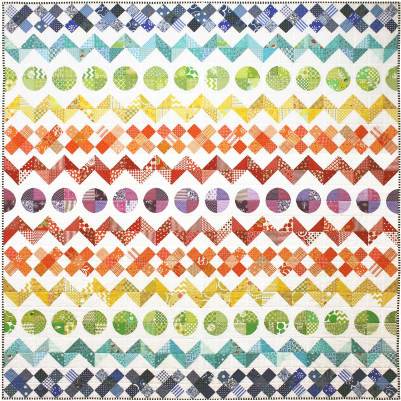 Rainbow Row by Row Quilt Pattern by Emma Jean Jansen