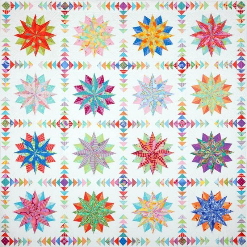 Harlequin Stars Quilt Pattern by Emma Jean Jansen
