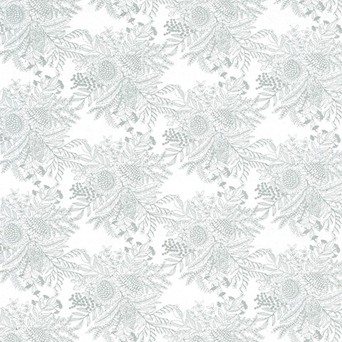 Botanical - White/Silver